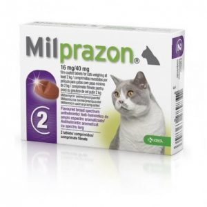 Милпразон д/кош более 2 кг, 2 таб/уп