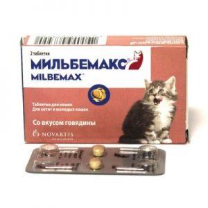 Мильбемакс д/котят и молодых кошек, 2 таб/уп