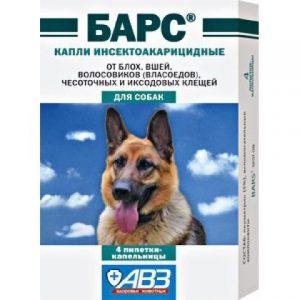 Барс капли от блох и клещей для собак, 4 пипетки/уп.