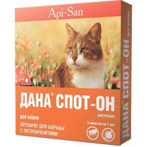 ДАНА СПОТ-ОН для кошек,3 пипетки/уп.
