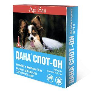 ДАНА СПОТ-ОН для собак и щенков до10 кг,3 пипетки/уп.
