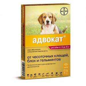Адвокат для собак от 10 до 25 кг,3 пипетки/уп.
