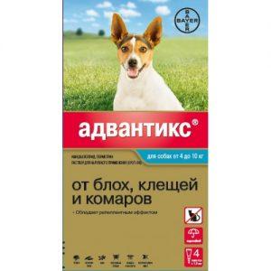 Адвантикс для   собак от 4  до 10 кг, 4 пипетки/уп.