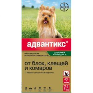 Адвантикс для щенков и собак до 4 кг, 4 пипетки/уп.