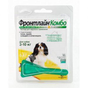Фронтлайн Комбо для собак до 10 кг, 1 пипетка/уп.