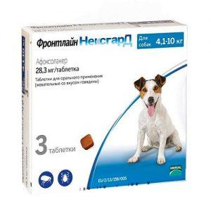 Фронтлайн Нексгард для собак  4,1 - 10 кг, 3 таблетки/уп.
