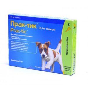 Практик капли для собак массой >4,5- 11 кг, 3 пипетки /уп.