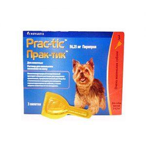 Практик капли для собак массой 2 - 4,5 кг, 3 пипетки /уп.