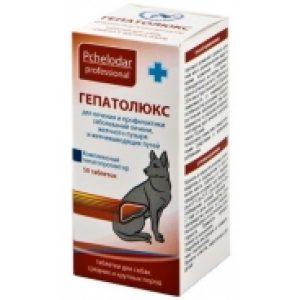 Гепатолюкс для собак средних и крупных пород,50 таб.(Пчелодар)