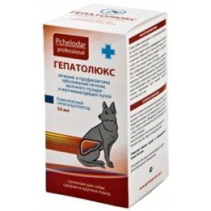 Гепатолюкс для собак средних и крупных пород,50 мл(Пчелодар)