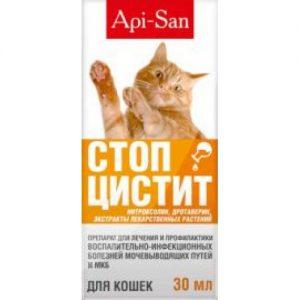 Стоп-цистит био суспензия д/кошек,фл.30 мл (Апи-Сан)