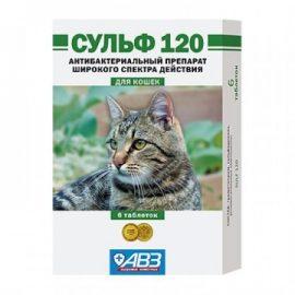 Сульф 120, для кошек, 6 таб/уп