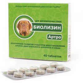 Биолизин Артроз для догообразных, 40 таб/уп