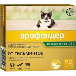 Профендер 0,35 мл, д/кош от 0,5 до 2,5 кг, 2 пип/уп